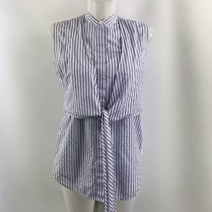Helmut Lang Blue Striped Tank Size Small